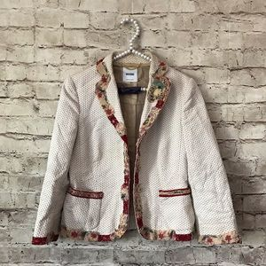 Moschino 40 USA 6 Embroidered Jacket Blazer
